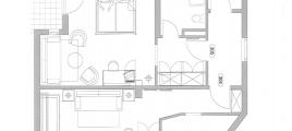 Skizze Studio I Hotel Glockenstuhl in Gerlos