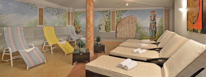 Ruheraum in der Saunalandschaft des Hotel Glockenstuhl in Gerlos